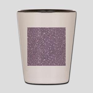 Purple Sparkle Glitter Shiny Pattern Shot Glass