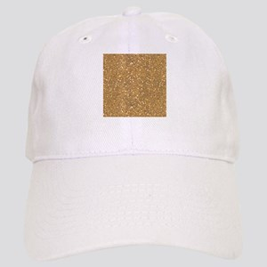 Gold Sparkle Glitter Shiny Pattern Baseball Cap