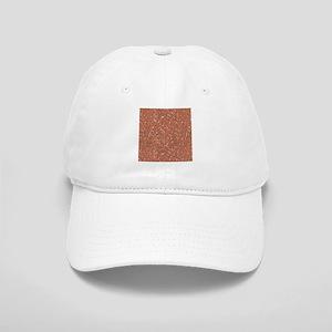 Orange Sparkle Glitter Shiny Pattern Baseball Cap