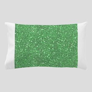 Green Sparkle Glitter Shiny Pattern Pillow Case