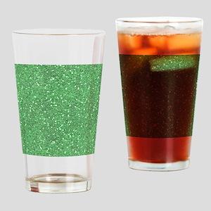 Green Sparkle Glitter Shiny Pattern Drinking Glass