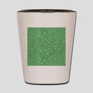 Green Sparkle Glitter Shiny Pattern Shot Glass
