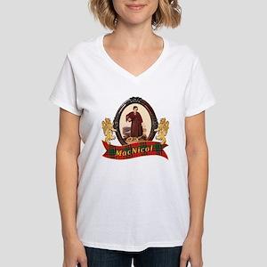 MacNicol Clan Women's V-Neck T-Shirt