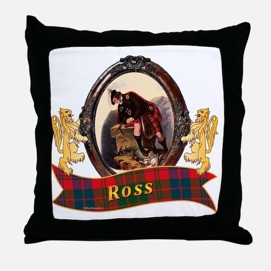 Ross Clan Throw Pillow