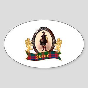 Skene Clan Sticker (Oval)