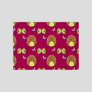 Happy Hedgehogs 5'x7'area Rug
