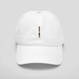 Brown Gold Ombre Stripe Baseball Cap