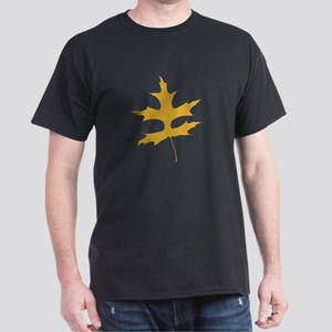 Yellow Autumn Leaf Silhouette T-Shirt