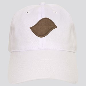 Brown Cardboard Leaf Patch Baseball Cap