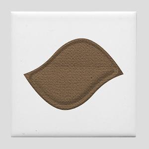 Brown Cardboard Leaf Patch Tile Coaster