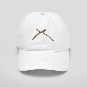 Taupe Brown Ribbon Bow Baseball Cap