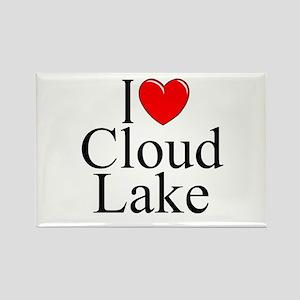 """I Love Cloud Lake"" Rectangle Magnet"
