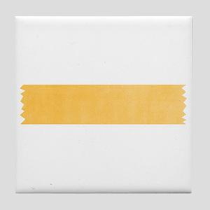 Yellow Washi Tape Strip Tile Coaster