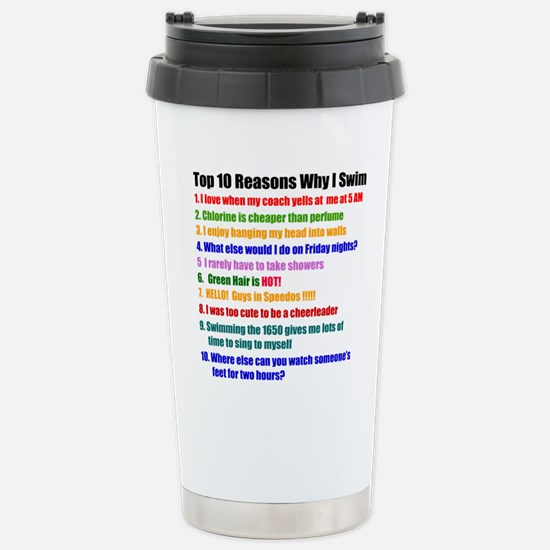 Top 10 Reasons Why I Swim Travel Mug