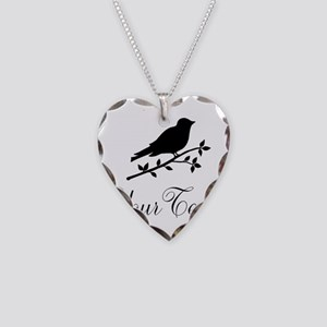 Personalizable Bird Silhouette Necklace