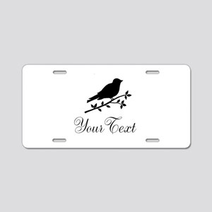 Personalizable Bird Silhouette Aluminum License Pl