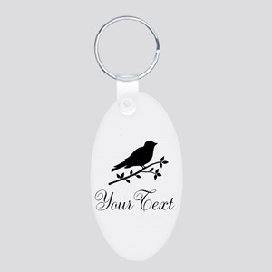 Personalizable Bird Silhouette Keychains
