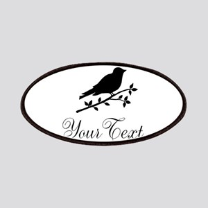 Personalizable Bird Silhouette Patches