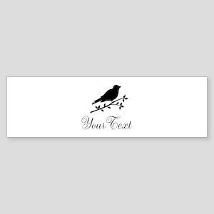Personalizable Bird Silhouette Bumper Sticker