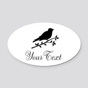 Personalizable Bird Silhouette Oval Car Magnet