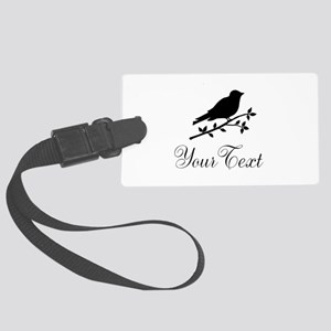 Personalizable Bird Silhouette Luggage Tag