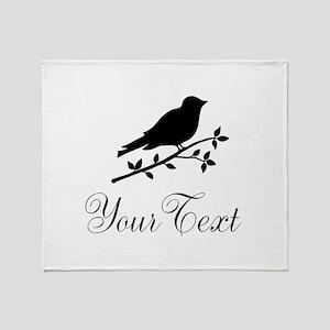 Personalizable Bird Silhouette Throw Blanket