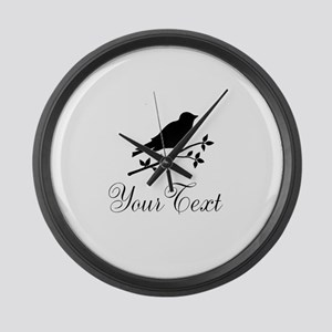 Personalizable Bird Silhouette Large Wall Clock