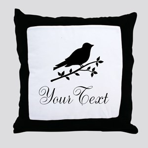 Personalizable Bird Silhouette Throw Pillow