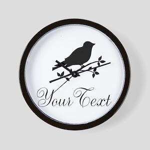 Personalizable Bird Silhouette Wall Clock
