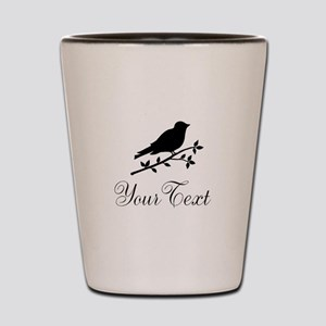 Personalizable Bird Silhouette Shot Glass