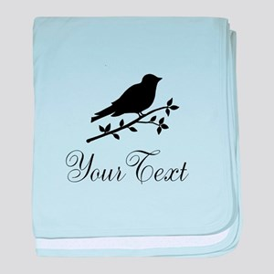 Personalizable Bird Silhouette baby blanket