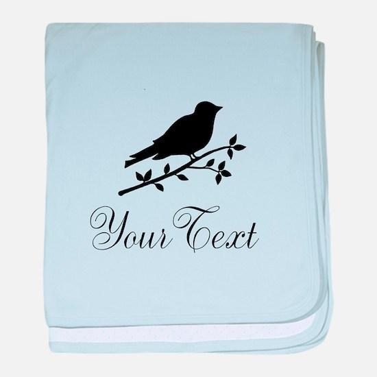 Personalizable Bird Silhouette baby blanket