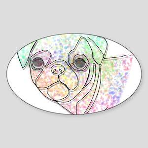 Wire Pug Sticker