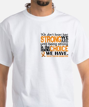 Kidney Cancer HowStrongWeAre (Orange White T-Shirt