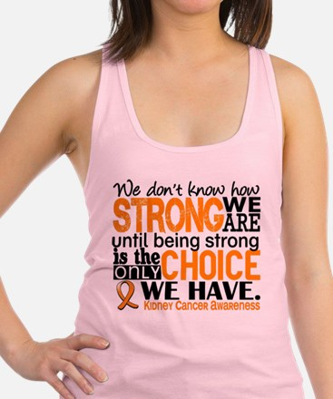 Kidney Cancer HowStrongWeAre (O Racerback Tank Top