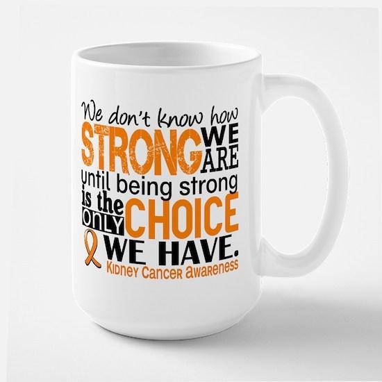 Kidney Cancer HowStrongWeAre (Orange) Large Mug