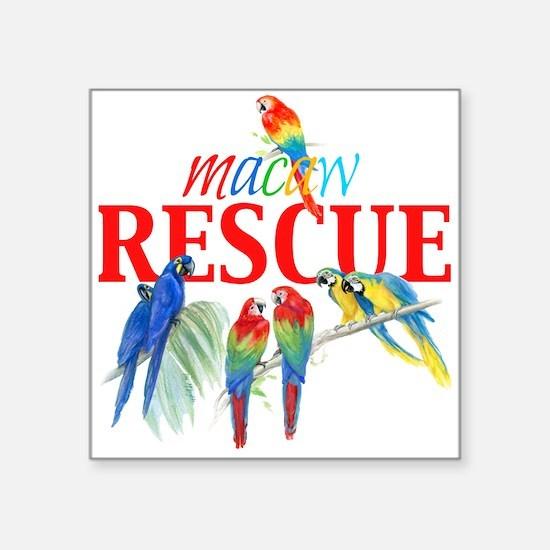 Macaw Rescue Sticker