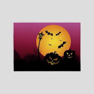 Spooky Halloween 6 5'x7'Area Rug