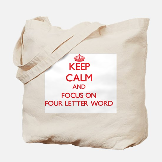Cute Four letter word Tote Bag