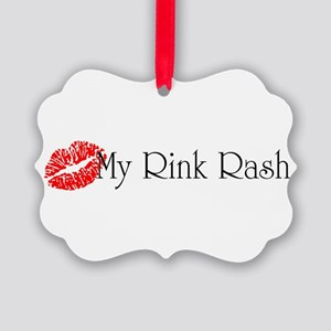Kiss My Rink Rash Picture Ornament