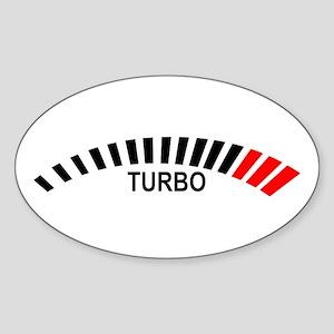 Turbo Oval Sticker