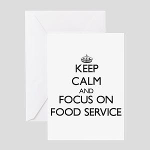 Food service greeting cards cafepress keep calm and focus on food service greeting cards m4hsunfo