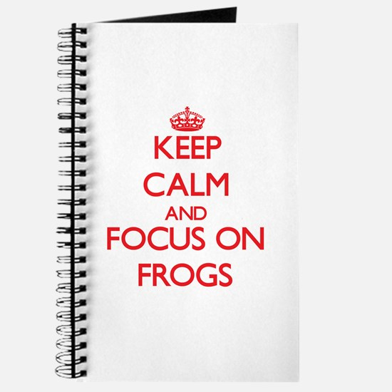 Unique Keep calm frog Journal