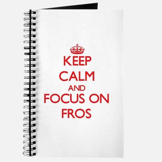Cool Keep calm frog Journal