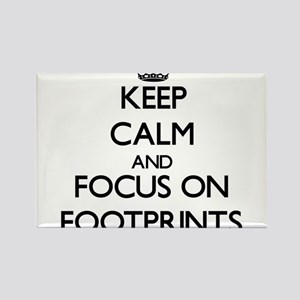 Keep Calm and focus on Footprints Magnets