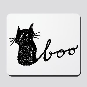 Boo Cat for Halloween Mousepad