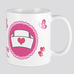 Personalized Nurse Heart Mug Mugs
