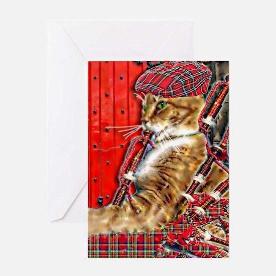 Unique Celtic cat Greeting Card