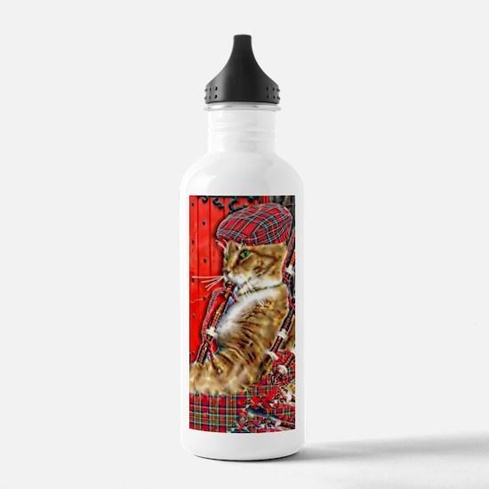 Funny Celtic cat Water Bottle