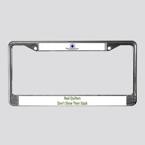 Quilter Dont Show Stash License Plate Frame